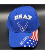 Us Air Force Hat American Flag Cap Kys One Size USAF Blue Red - $19.80