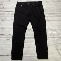 Levi's 512 Slim Taper Jeans Black Denim Mens Size 36x30 Stretch New  - $27.68