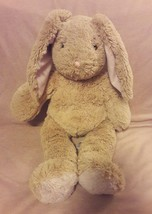 "BUILD A BEAR brown pink BUNNY RABBIT plush stuffed animal 19"" SING BIRTH... - $17.75"