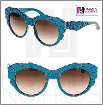 Dolce & Gabbana Mamas Brocade Petroleum Green Brown Mesh Sunglasses DG42... - $204.93