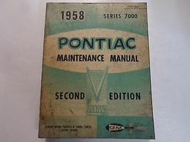 1958 Pontiac 7000 vorläufige Wartungshandbuch 2. EDITION gebeizt abgefah... - $29.64