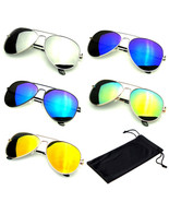 SUNGLASSES Aviator Mirror Mens Womens UV400 New Lens Frame Color Retro V... - $8.54+