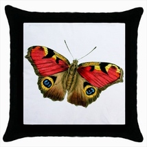Throw pillow case butterfly peacock - $19.50