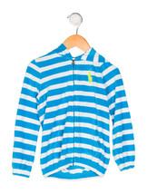 Ralph Lauren Girls' Hooded Zip-Up Jacket in Blue, 3/3T - $24.74
