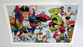 1978 Marvel Defenders poster:Hulk/Dr Strange/Sub-Mariner/Silver Surfer/D... - $39.59