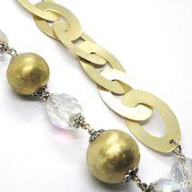 Silver 925 Necklace, Yellow, Drop White Agate, Large Oval Satin image 5
