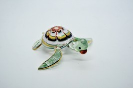 Turtle Murano Hand Blown Hand Craft Glass Aquarium Figurine Collection G... - $44.77 CAD