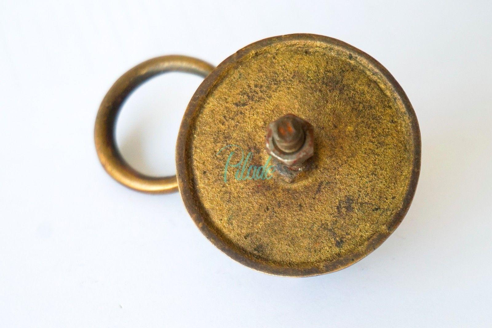 Elephant Head Lion Brass Door Knocker Vintage Antique Victorian