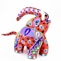 "Handmade Alebrijes Oaxacan Painted Carved Wood Folk Art Elephant 6"" Figure - $79.19"