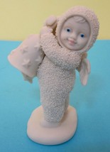 Dept. 56 Snowbabies Figurine Angel w Bell That Really Rings!  - $24.26