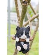 Pet Pals- Black/White Kitten Hanging-Garden Statue, Garden Decor, Home D... - $37.59