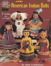 American Indian Dolls, Crochet Doll Clothing Pattern Booklet ASN 1221 OOP & HTF - $6.95