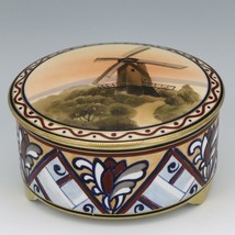 Noritake Nippon Windmill Sunset Covered Candy Box c1920 image 1