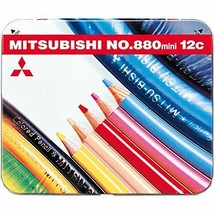12 color pencil Mitsubishi  wide 880-class mini size - $7.22