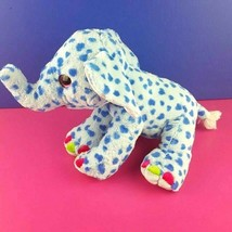 "Wild Republic Plush Sweet Sassy Blue Polka Dot Elephant 14"" Big Eyes Stuffed - $22.76"