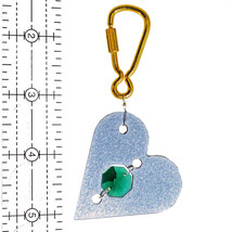 Aluminum and Crystal Heart Keyring image 3