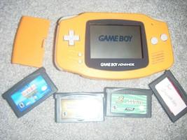 Nintendo Game Boy Advance ORANGE Handheld System with Games - $42.05