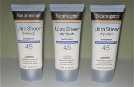 (3) Neutrogena Ultra Sheer Dry Touch Sunscreen, SPF 45 - 3 oz - $6.99