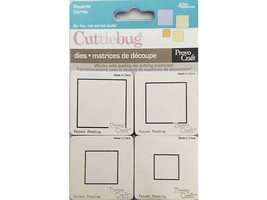 Provo Craft Cuttlebug Squares Dies, Set of 4 #37-1216