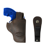 "New Barsony Brown Leather 360Carry 12 Option OWB IWB Holster for 2"" Revo... - $64.99"