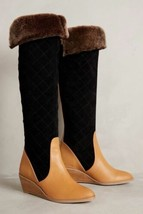 NIB $398 ANTHROPOLOGIE PENNY QUILTED BOOTS by SCHULER & SONS 6.5 - $155.19