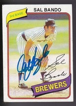 Sal Bando Autographed Card 1980 Topps Milwaukee Brewers - $4.98