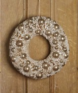 """Bethany Lowe 14"""" Silver Bottle Brush Wreath with Silver Balls - $59.99"""