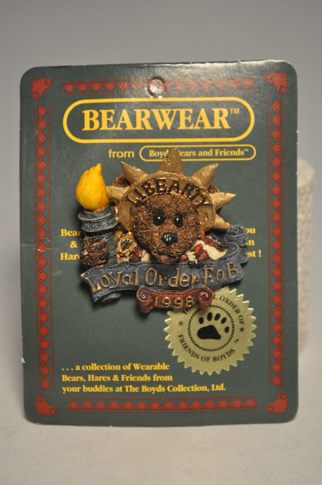 Boyds Bears & Friends: BEARWEAR - Ms Liberty - 01998-11, Brooch Pin