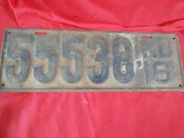Great Collectible 1916 INDIANA License Tag    55538   FREE POSTAGE USA - $63.94