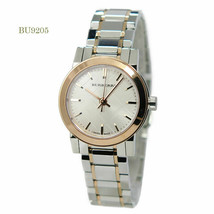 Authentic Burberry Two Tone White Dial Stainless Steel Women's Watch BU9205 - $183.25