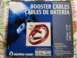 Booster Cables 10 Gauge 12 Feet By Helping Hand - New In Box image 2
