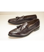Allen Edmonds Manchester Size 12 AA Burgundy Wing Tip Tassel Loafer Men's - $195.00