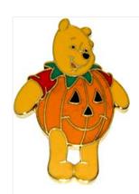 Halloween Winnie the pooh   AS A pumpkin  Authentic   Disney Pin - $36.00