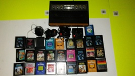Atari 2600 6 Switch Console w 27 Games and Action Paddled *Doesn't turn on* - $14.99