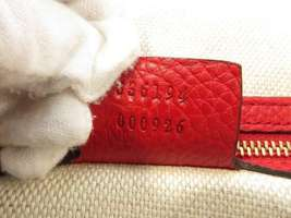 GUCCI Shoulder Bag Leather Red 2Way Soho Interlocking G 536194 Italy Authentic image 10