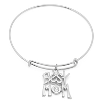 PIATELLA Stainless Steel best mom charm bracelet adorned Swarovski Crystals - $10.99