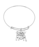 PIATELLA Stainless Steel best mom charm bracelet adorned Swarovski Crystals - $10.99