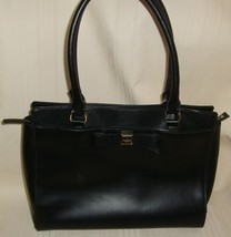 Kate Spade New York Black Zippered Closure Handbag With Small Bow, Purse - $39.59
