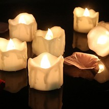 Cozeyat 24pcs Wax-drip Battery Operated Tea Lights Flameless Candle Flic... - $25.05