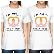 Sweet And Salty BFF Matching White Shirts - $30.99+