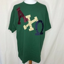 Vintage Alpha Chi Omega Sewn On T-Shirt XL College Sorority #A36 - $31.84