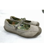 Keen Summer Buckle Gray Canvas Mary Jane Flats Shoes SZ 7 - $21.46