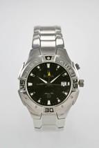 Bulova Marine Star Watch Men Date Alarm Stainless Steel Silver 100m Parts - $75.55