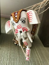 Antique Thailand Asian Marionette ELEPHANT Wooden Puppet Hand Painted 5 ... - $223.20