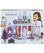 Frozen 2 Castle of Arendelle portable foldable DOLLS ELSA & ANNA including - $181.99