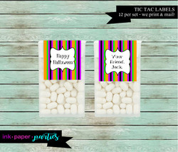 Halloween Candy Mints Mint Labels Party Favors - We Print & Mail to You! - - $3.50