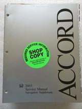 Q 2003 Honda Accord Service Repair Manual Navigation Supplement OEM Work... - $12.88