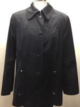 Calvin Klein Women Trench Coat Black Large - $43.74