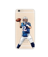 "FCM Sports Phone Covers ""TB12"" Football Clear TPU iPhone Cases For NFL Fans - $19.98"