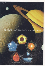 Exploring the Solar System, Full Sheet of 5 x $1.00 Pentagonal Postage S... - $16.50